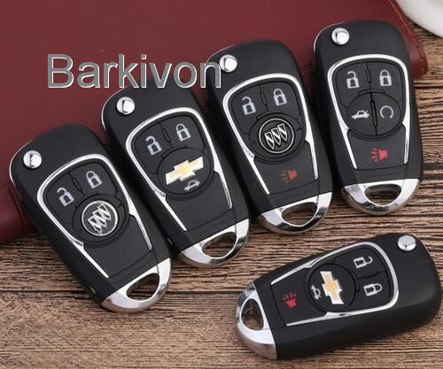 2 3 4 5 Button New flip car key shell for GM Buick Chevrolet