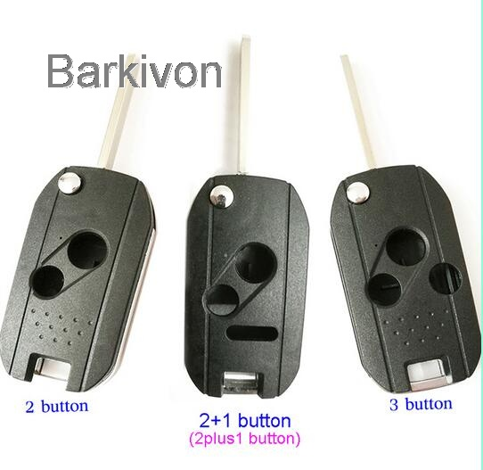 2 2+1 3 Button hole remote folding car key shell case for Honda Odyssey Civic Accord Fit CRV Pilot flip key fob cover
