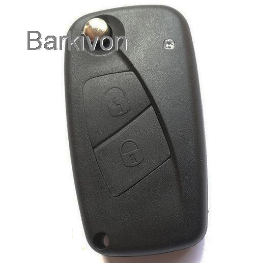 2 Two Buttons Car Remote Folding Flip Key Shell Case For Fiat key fob cover