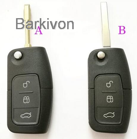 Replacement Remote key fob case for Ford Mondeo Fiesta Focus 3 button flip key shell