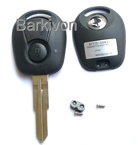 2 Button replacement car key shell for Ssangyong