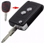 2 button Replacement car key shell folding key shell for Peugeot with 206/307 blade