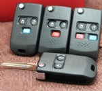 2 3 4 Button flip modified car key shell for Ford