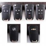 2 3 4 5 Button flip car key shell for GM Buick Chevrolet
