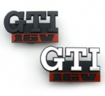 Black silvery car badge emblem VW GTI 16V