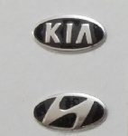 14.3mmX7.3mm and 17mmX8.3mm Replacement Aluminum Key Badge Emblem for KIA for Hyundai car key Sticker Logo
