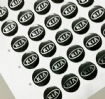 14mm Round flat epoxy key logo for KIA