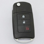 3 Three Buttons Modified Remote Folding Key Case shell for Toyota Camry Key Cover