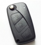 3 Three Replacement Black Button Car Remote Folding Flip Key Shell Case For Fiat key fob cover