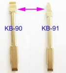 KB-90,91 Replacement Flip Folding Brass Uncut key blank for Ford Mondeo for Jaguar key blade